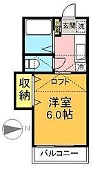 TOPHILL代田[202号室]の間取り
