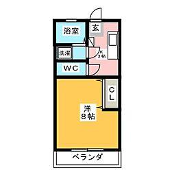 エールIII[1階]の間取り