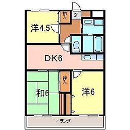 愛知県碧南市古川町1丁目の賃貸マンションの間取り