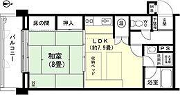 和室8畳 DK約7.9畳