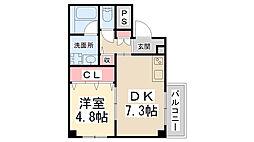(仮称)美園町共同住宅[201号室]の間取り