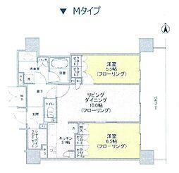 ブランズタワー御堂筋本町[28階]の間取り