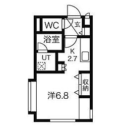 北海道札幌市中央区南五条西11丁目の賃貸マンションの間取り