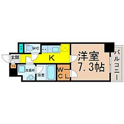 愛知県名古屋市中村区稲葉地本通1丁目の賃貸マンションの間取り