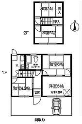 [テラスハウス] 大阪府箕面市百楽荘1丁目 の賃貸【/】の間取り