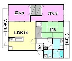 第3レジデンス持田[312 号室号室]の間取り