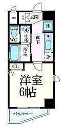 エステムコート神戸山手ステーションデュオ 5階1Kの間取り