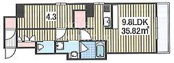 S-FORT二条城前[2004号室号室]の間取り