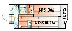 レジナスイート田町[603号室]の間取り