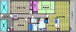 JR東海道・山陽本線 芦屋駅 バス12分 東山町下車 徒歩3分の賃貸マンション 6階3LDKの間取り