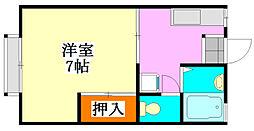 ロータスハイツA棟[2階]の間取り