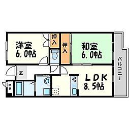 シャルム五反田[3階]の間取り
