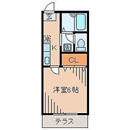 メゾンレスポワール[1階]の間取り