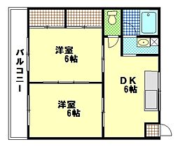 木本ビル[2階]の間取り
