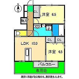 セゾンコートIII[1階]の間取り