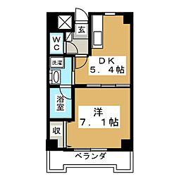 カヤバプラザF館[4階]の間取り