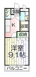 埼玉県草加市弁天2丁目の賃貸マンションの間取り