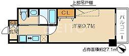 エンゼルプラザ京都[1階]の間取り
