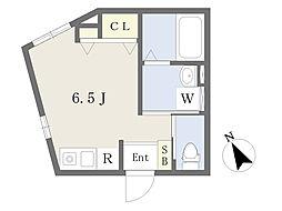 東武東上線 下板橋駅 徒歩5分の賃貸アパート 1階ワンルームの間取り