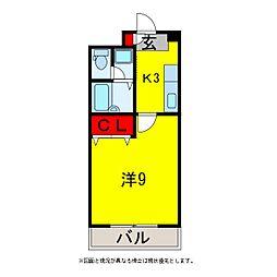 グレース八木3[4階]の間取り