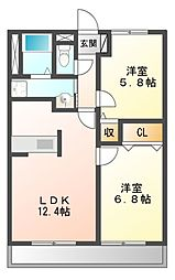 PARK COURT5(パークコート)[6階]の間取り