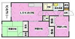 ファミリー香川[303号室]の間取り