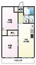 ファミール東松山 [2階]の間取り