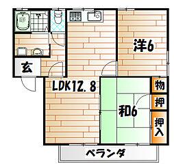 サンハイムK B棟[2階]の間取り