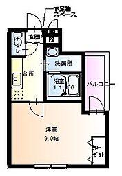 大阪府大阪市住吉区沢之町2丁目の賃貸アパートの間取り