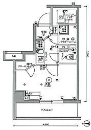 スカイコート中野沼袋[3階]の間取り