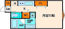 江坂アパートメント[7階]の間取り