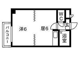 北海道札幌市豊平区中の島二条10丁目の賃貸マンションの間取り
