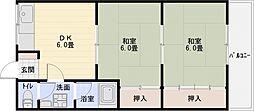 勝浦ハイツ[2階]の間取り