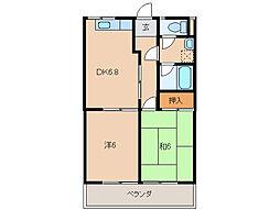 グリーンフル松島[3階]の間取り