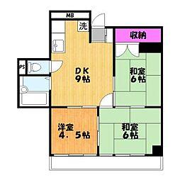 マルマンプラザ武里[5階]の間取り