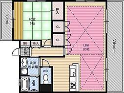 ベルデ・カーサ[5階]の間取り