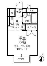 東京都杉並区和泉2丁目の賃貸アパートの間取り