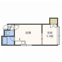北海道札幌市北区北二十六条西7丁目の賃貸アパートの間取り