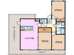 コスモマンション[4階]の間取り