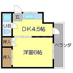 マンション壱番館[3階]の間取り