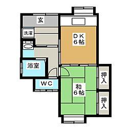 新岡アパート[1階]の間取り