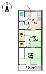 マンション岡[3階]の間取り