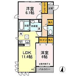 仮称)D−room神大寺4丁目A[1階]の間取り