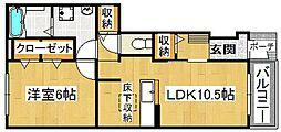 ラフィネシャトレ[1階]の間取り