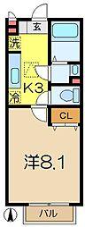 ミーティア・1C[1階]の間取り
