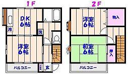 [テラスハウス] 千葉県市川市妙典1丁目 の賃貸【/】の間取り