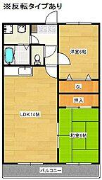 ベルパ−ク21[4階]の間取り