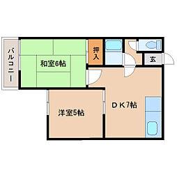 ロイヤルメゾン塚口5[3階]の間取り