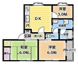 トラストメゾン[3F号室]の間取り