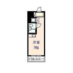 岡山県岡山市北区奉還町2丁目の賃貸マンションの間取り